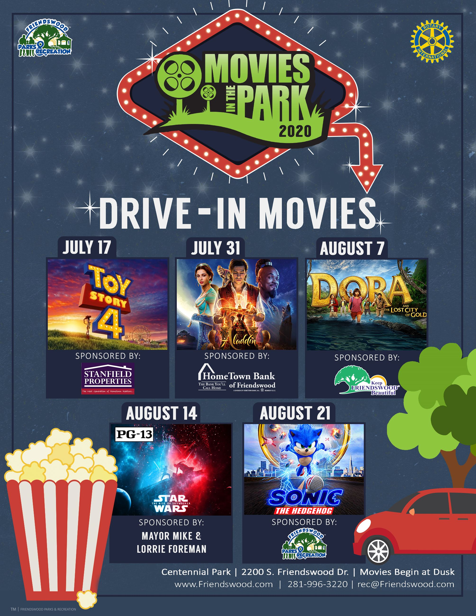 Movies in the Park Flyer