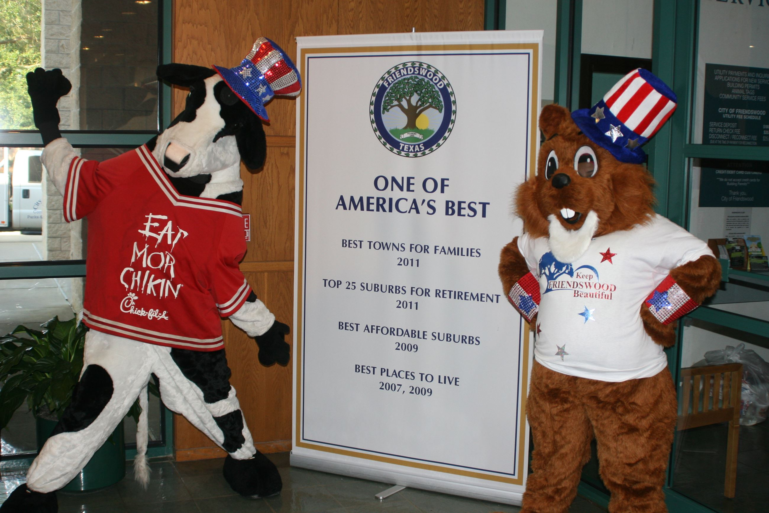 Figgy the Squirrel at Chick-Fil-A Event